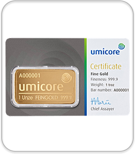 1 oz Umicore gold Bullion