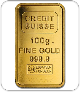 Credit Suisse 100g Fine gold Bullion