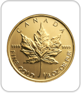 Canadian 1/4 oz gold coin