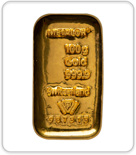 100g Gold Bullion Bar