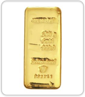 Metalor 500g Gold Bullion