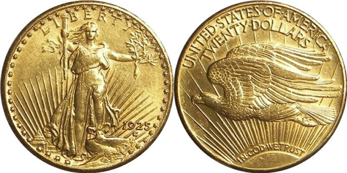 American Eagle Gold Coin St Gaudins